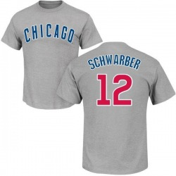 Men's Kyle Schwarber Chicago Cubs Roster Name & Number T-Shirt - Gray