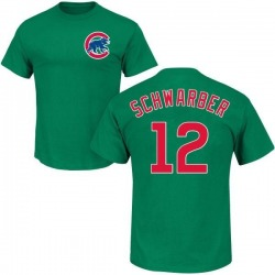 Men's Kyle Schwarber Chicago Cubs St. Patrick's Day Roster Name & Number T-Shirt - Green