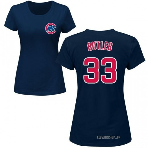 Women's Eddie Butler Chicago Cubs Roster Name & Number T-Shirt - Navy