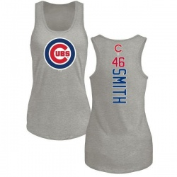 Women's Lee Smith Chicago Cubs Backer Tri-Blend Tank Top - Ash
