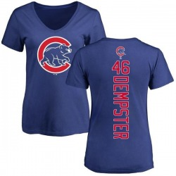 Women's Ryan Dempster Chicago Cubs Backer Slim Fit T-Shirt - Royal