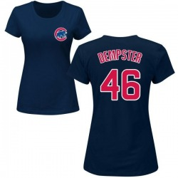 Women's Ryan Dempster Chicago Cubs Roster Name & Number T-Shirt - Navy