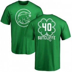 Youth Rick Sutcliffe Chicago Cubs Dubliner Name & Number T-Shirt - Kelly Green